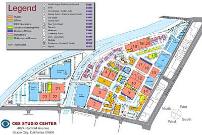 Center Studios Burbank Map of Cbs Studio Center